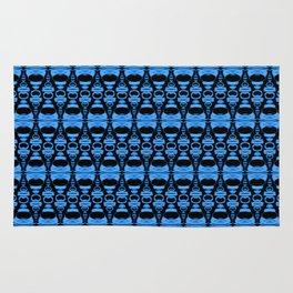 Dividers 02 in Blue over Black Rug