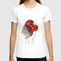 poppies T-shirts featuring Poppies by Alina Rubanenko
