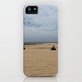 Quad biking at Stockton Sand Dunes, Port Stephens, Australia iPhone Case