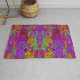 Twisted Bug Face (Dark) (Psychedelic) Rug