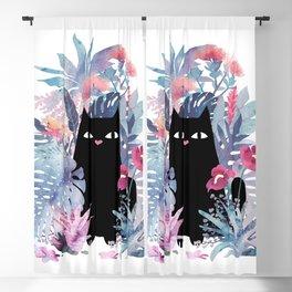Popoki (Pastel) Blackout Curtain