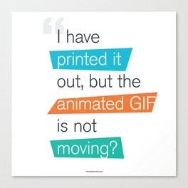 animated GIF  Canvas Print