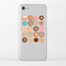 Doughnuts Clear iPhone Case