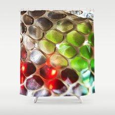 Snakeskin & Beads Shower Curtain