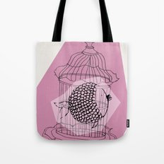 Fishy in Cage Tote Bag