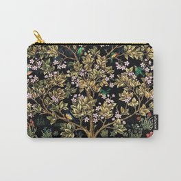 William Morris Northern Garden with Daffodils, Dogwood, & Calla Lily Floral Textile Print Carry-All Pouch