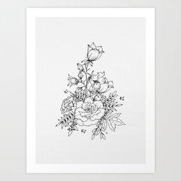 Campanula Bouquet Art Print