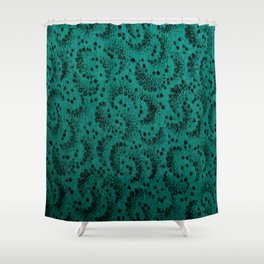 Teal Green Specks Shower Curtain