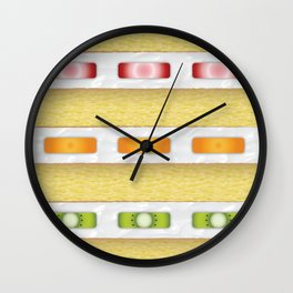 Cake Slice - Fruit Wall Clock