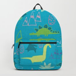Dino Fun land Blue Backpack