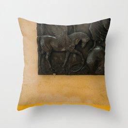 Mustard Exhibit Throw Pillow