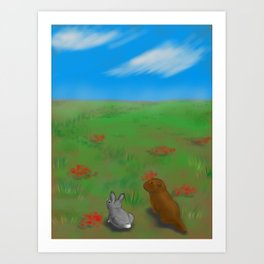 Bunny and Gopher Art Print