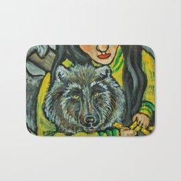 Driftwood Wolf * Nature Maiden Bath Mat