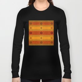 """Ethnic Pattern Warm Tones II"" Long Sleeve T-shirt"