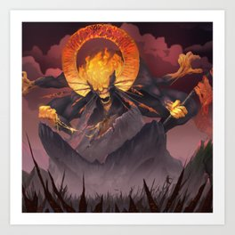 Demon of Pride and Conquest Art Print