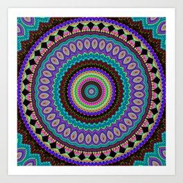 the dreamer Mandala Art Print