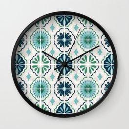 Tile No. 8 Wall Clock