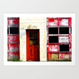 Red Doors on Garage  #2 Art Print