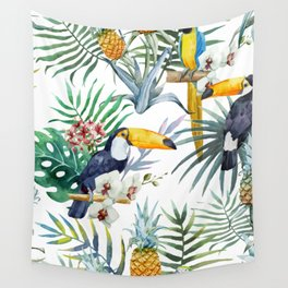 Tropical pattern Wall Tapestry