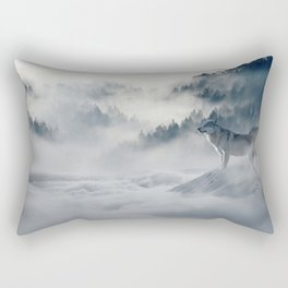 Wolves loup 2 Rectangular Pillow