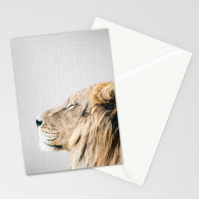 Lion Portrait - Colorful Stationery Cards