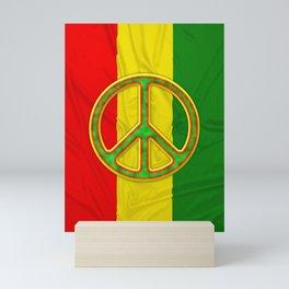 Rastafarian Flag Peace Symbol Mini Art Print