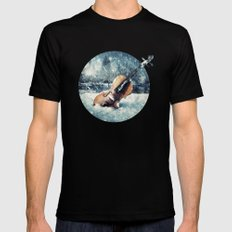 Wistful Abandonment Mens Fitted Tee Black MEDIUM