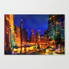 Chicago at Dusk Canvas Print
