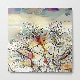 Tree Abstract Metal Print