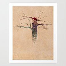 Sweet Birch (color variation) Art Print