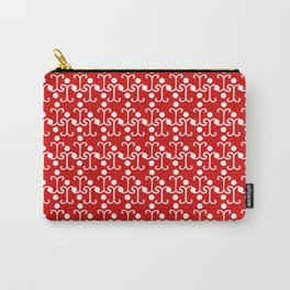Lattice Pattern (Red) Carry-All Pouch