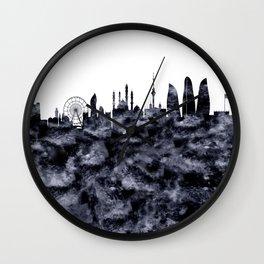 Baku Skyline Azerbaijan Wall Clock