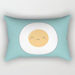 Kawaii Cute Fried Eggs Breakfast Rectangular Pillow