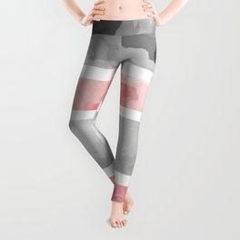 KIROVAIR MARBLE STRIPES #minimal #design #kirovair #decor #buyart #grey #pink #elements Leggings