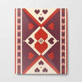 native tribal love Metal Print