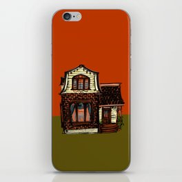 Tiny House in Rust and Yellow iPhone Skin