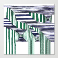 stripes Canvas Prints featuring Stripes by Take F1ve