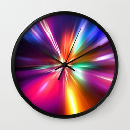 acceleration speed motion on night road Wall Clock