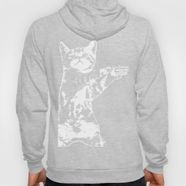 Funny Kitty Cat With A Gun design Gang Cat Hoody