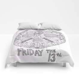 Hockey Mask Doodle Comforters