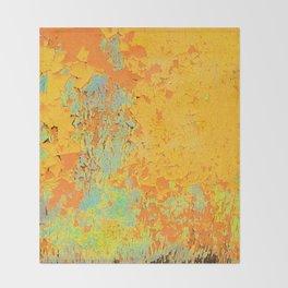Flaky paint Throw Blanket