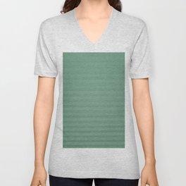 Vintage chic green geometrical stripes pattern Unisex V-Neck