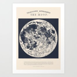 Telescopic Appearance of the Moon Art Print