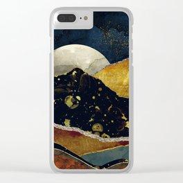 Bronze Night Clear iPhone Case
