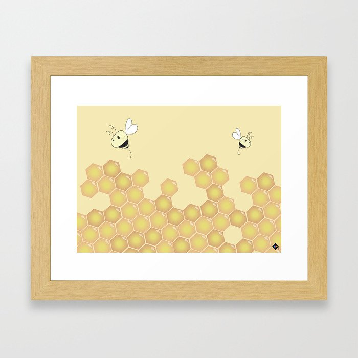Bees Framed Art Print