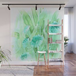 Soft Watercolor Floral Wall Mural
