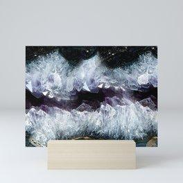 Amethyst Crystal Bed Mini Art Print