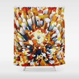 Colorful 3D Extrusion Shower Curtain