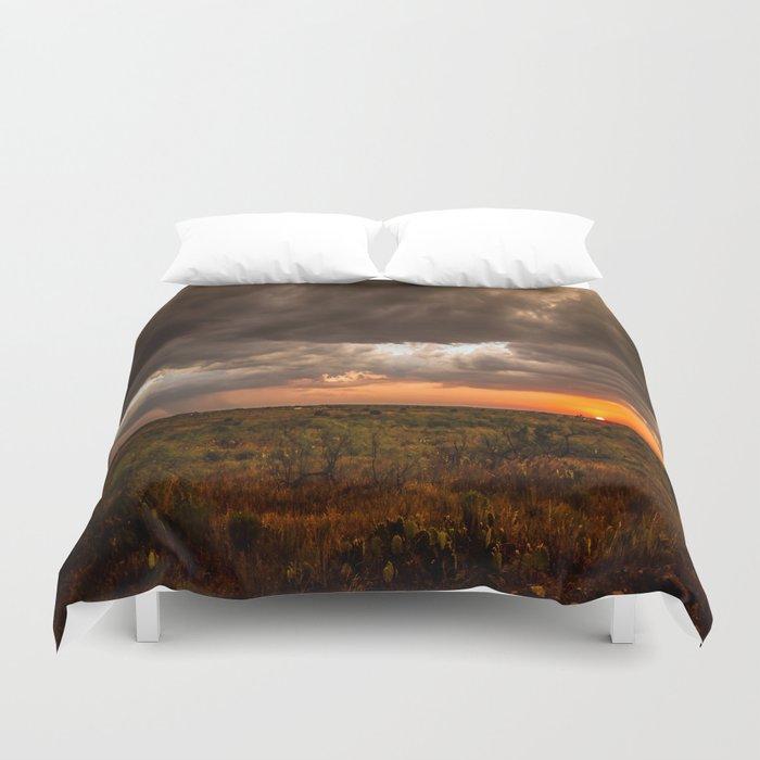 West Texas Sunset - Colorful Landscape After Storms Bettbezug