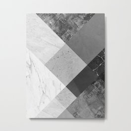 Geometric and minimalist marble V Metal Print